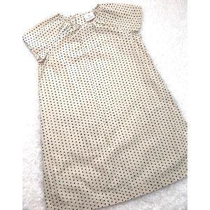 Hanna Andersson Girls Poplin Polka Dot Shift Dress